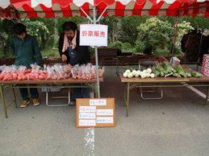 木花農業青年による野菜販売
